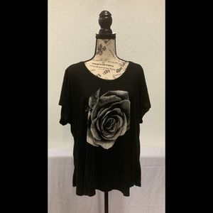 Lucky Brand Photographic Rose Tee.